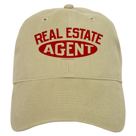 REAL ESTATE AGENT (Red) Cap