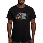 Turkey Talk Men's Fitted T-Shirt (dark)