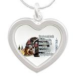 Turkey Talk Silver Heart Necklace