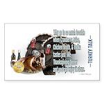Turkey Talk Sticker (Rectangle 50 pk)