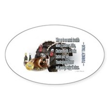 Turkey Talk Sticker (Oval)