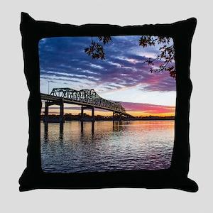 Clinton Bridge Throw Pillow