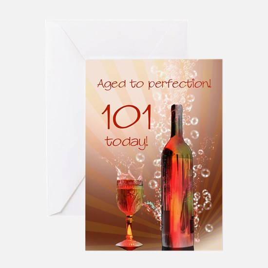 101st birthday. Aged to perfection with wine splas