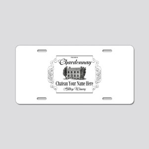 Classic Custom Chardonnay Aluminum License Plate