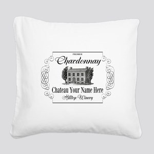 Classic Custom Chardonnay Square Canvas Pillow