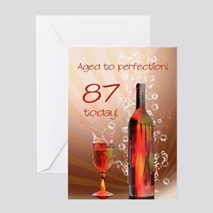 87th birthday. Aged to perfection with wine splash