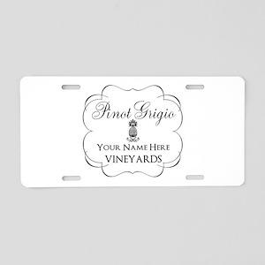 Pinot Grigio Aluminum License Plate
