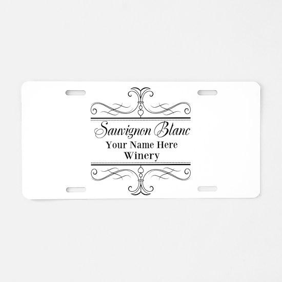 Sauvignon Blanc Aluminum License Plate