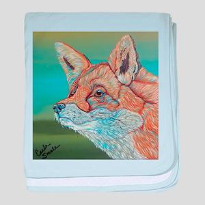 Rainbow Red Fox baby blanket