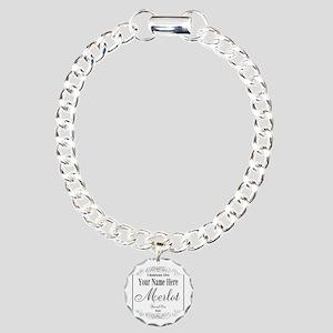 Merlot Label Bracelet