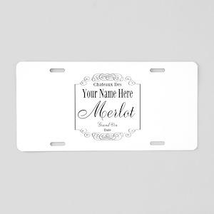 Merlot Label Aluminum License Plate