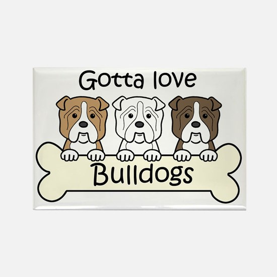Unique American bulldogs Rectangle Magnet