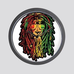 Headphone Lion Wall Clock