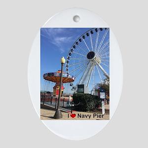 Centennial Wheel Oval Ornament