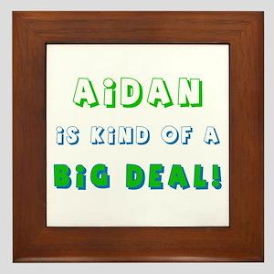 Aidan is Kind of a Big Deal  Framed Tile