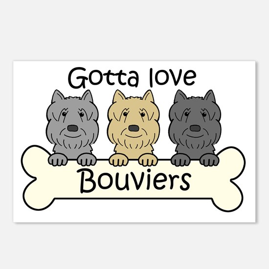 Cute Bouvier Postcards (Package of 8)