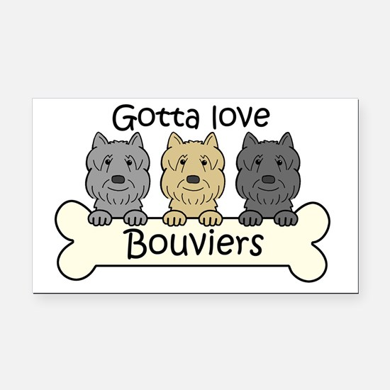 Unique Bouvier des flandres Rectangle Car Magnet