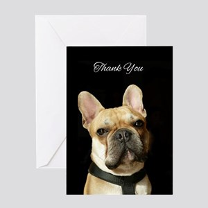 Thank You French Bulldog Greeting Cards