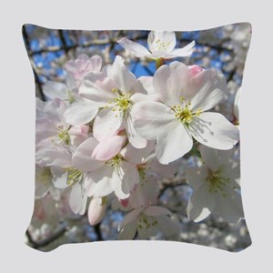 Cherry Blossom Blush Woven Throw Pillow