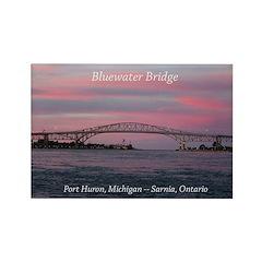 Blue Water Pridge Port Huron, Mi Magnets