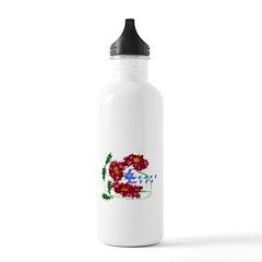 womens flowers 2 PNG Water Bottle