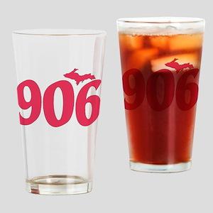 906 Yooper UP Upper Peninsula - Pin Drinking Glass
