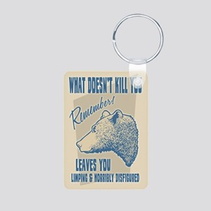 What Doesn't Kill You Aluminum Photo Keychain