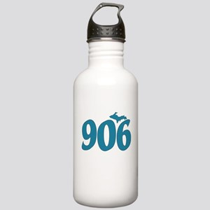 906 Yooper Blue Stainless Water Bottle 1.0L