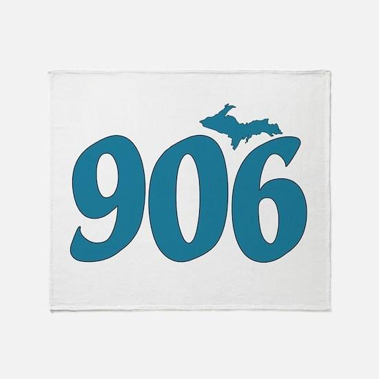 906 Yooper Blue Throw Blanket