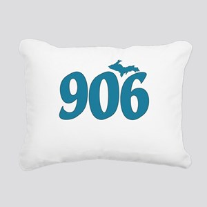 906 Yooper Blue Rectangular Canvas Pillow