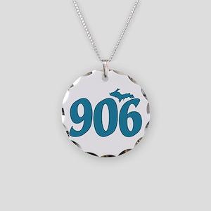 906 Yooper Blue Necklace Circle Charm