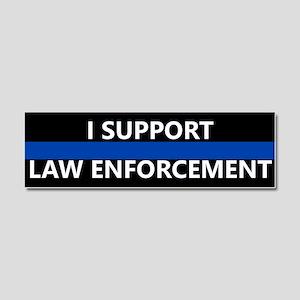 I Support Law Enforcement Car Magnet 10 x 3