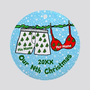 Our Nth Christmas Round Ornament