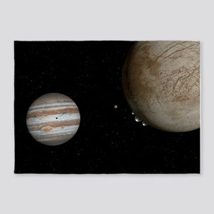Water Plumes Jupiter's Moon Europa 5'x7'Area Rug
