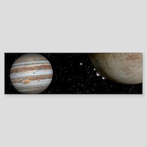 Water Plumes Jupiter's Moon Europa Bumper Sticker