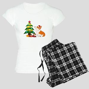 Christmas Corgi Cartoon Women's Light Pajamas
