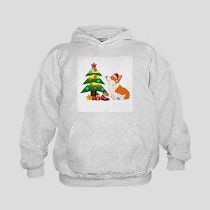 Christmas Corgi Cartoon Kids Hoodie