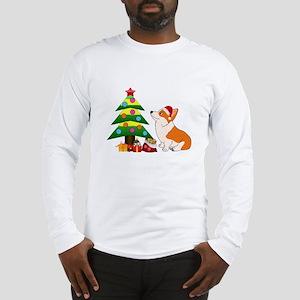 Christmas Corgi Cartoon Long Sleeve T-Shirt