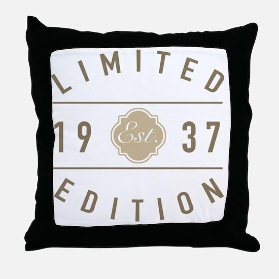 Cute 1937 Throw Pillow