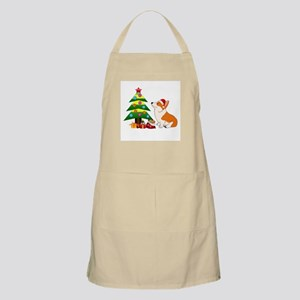 Christmas Corgi Cartoon Apron