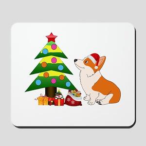 Christmas Corgi Cartoon Mousepad