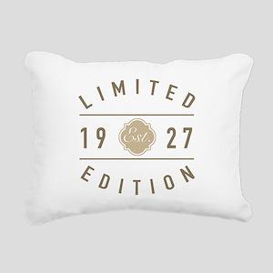 1927 Limited Edition Rectangular Canvas Pillow