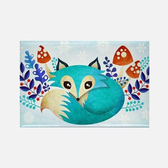 Cute Cute fox Rectangle Magnet