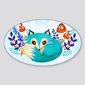 Winter Fox Sticker