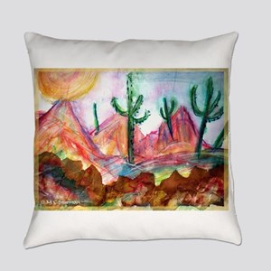 Desert! Southwest art! Everyday Pillow