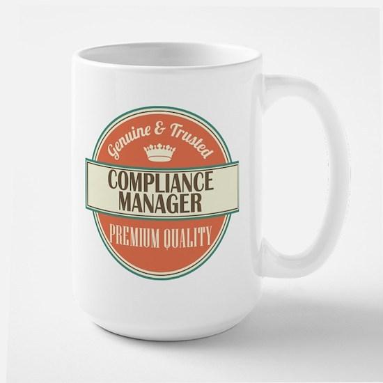 compliance manager vintage logo Mugs