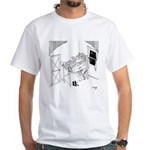 Barbed Wire Cartoon 5103 White T-Shirt