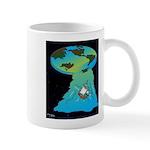 Flat Earth Cartoon 7540 Mug