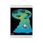 Flat Earth Cartoon 7540 Rectangle Magnet