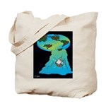 Flat Earth Cartoon 7540 Tote Bag